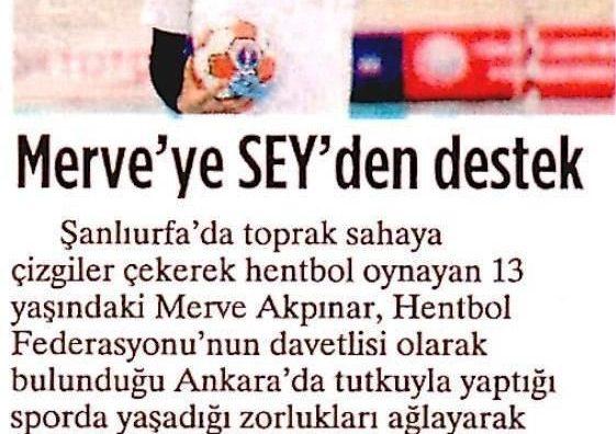 Milliyet Merve'ye SEY'den Destek